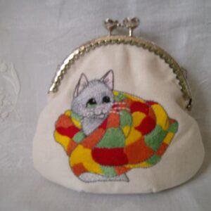Portemonnaie Katze mit Decke